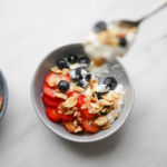 greek yogurt bowl closeup