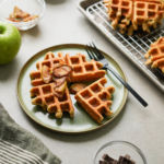 protein waffle with apples