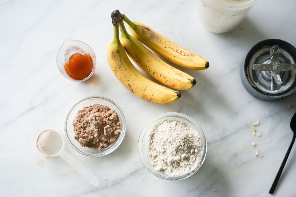 ingredients for protein muffins