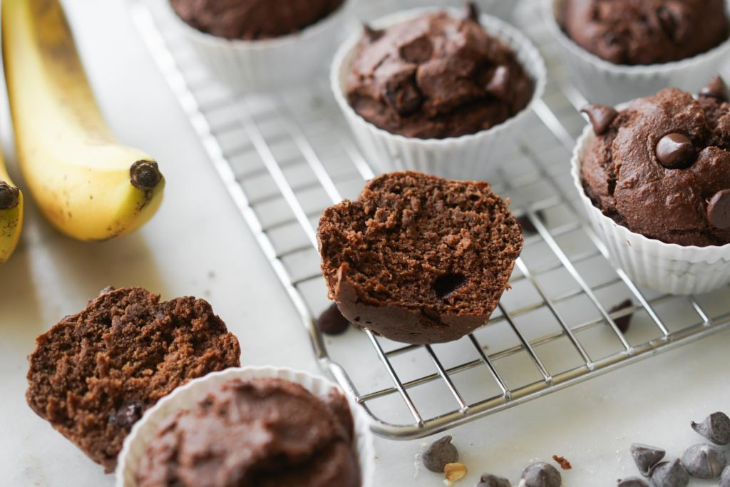 inside texture of protein muffins