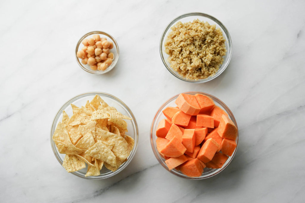 carb options for salad in glass bowls