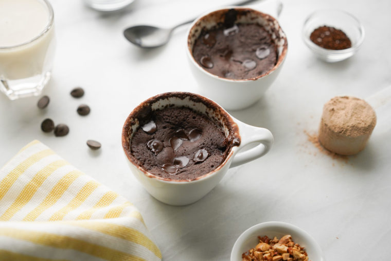 Chocolate Protein Mug Cake in 60 Seconds