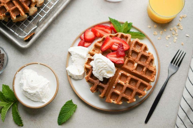 Healthy Oatmeal Waffles Recipe (Gluten-Free)