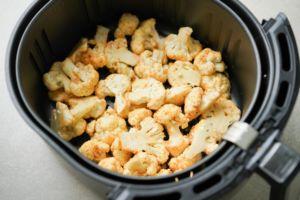 uncooked cauliflower in air fryer
