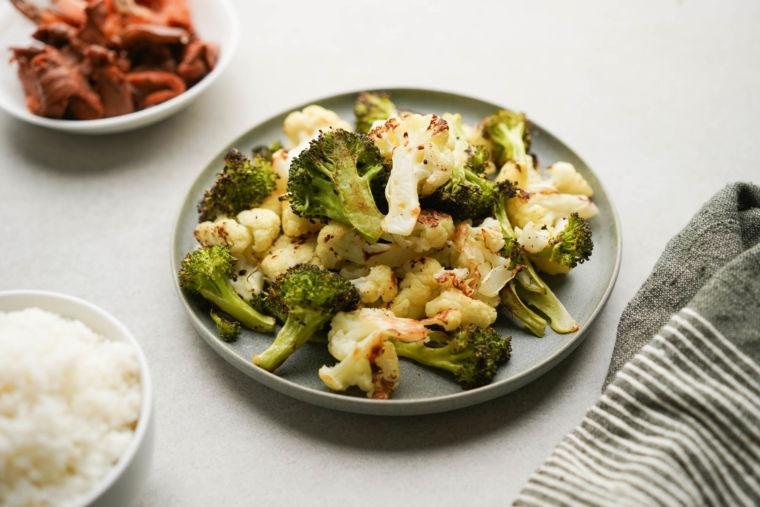 Roasted Broccoli and Cauliflower (Easy & Healthy Side Dish)