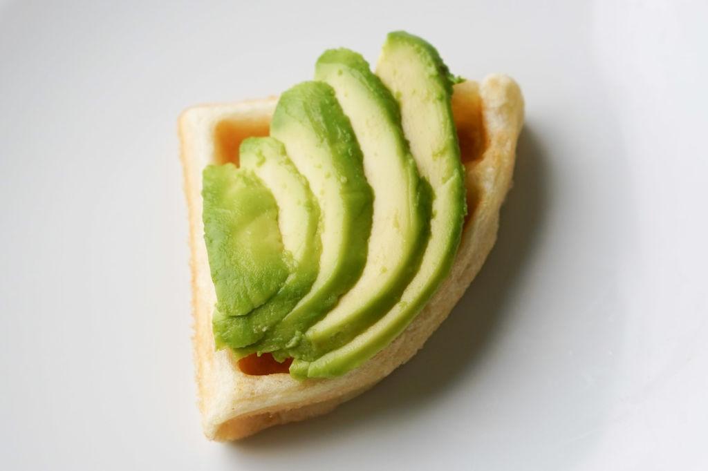 avocado waffle