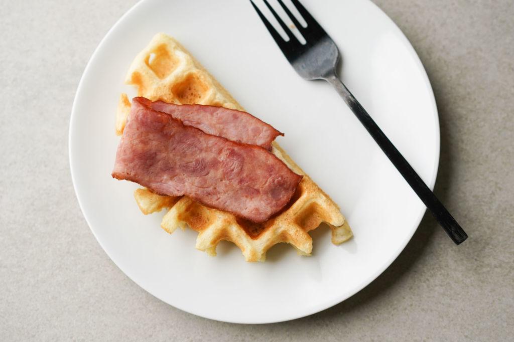 turkey bacon waffle