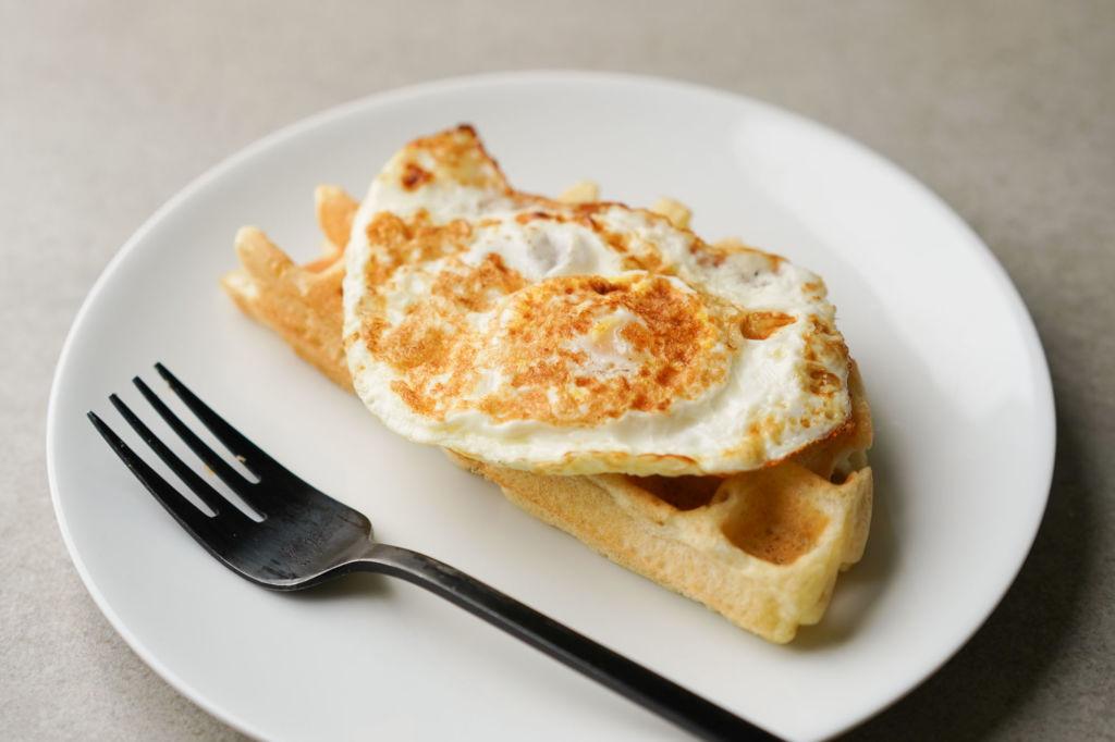 fried egg waffle
