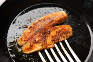 blackened fish in cast iron