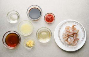 ingredients for sriracha shrimp